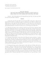 BÀI THU HOẠCH NỘI DUNG HỌC BỒI DƯỠNG THƯỜNG XUYÊN THÁNG 12 TH34: CÔNG TÁC CHỦ NHIỆM LỚP Ở TRƯỜNG TIỂU HỌC