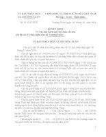 Quyết định về việc ban hành quy chế mức chi tiêu nội bộ của Uỷ ban nhân dân xã Trường Xuân