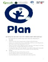 kế hoạch truyền thông biến đổi khí hậu