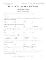 đề thi đại học quốc gia hà nội đề 5