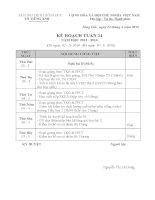 Kế hoạch tổ Tiếng Anh tuần 34