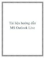 Tài liệu hướng dẫn MS outlook live