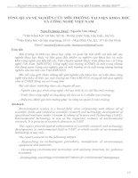 Tổng quan về nghiên cứu môi trường tại Viện Khoa học và Công nghệ Việt Nam