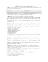Đề cương Công Nghệ 9 học kì II ( Trương Thị Thu Thủy)