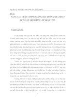 skkn mầm non NÂNG CAO CHẤT LƯỢNG GIẢNG dạy THÔNG QUA HOẠT ĐỘNG dự GIỜ THĂM lớp GIÁO VIÊN