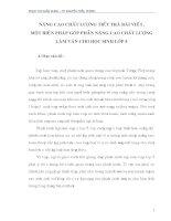 skkn NÂNG CAO CHẤT LƯỢNG TIẾT TRẢ bài VIẾT, một BIỆN PHÁP góp PHẦN NÂNG CAO CHẤT LƯỢNG làm văn CHO học SINH lớp 5