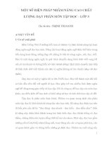 skkn một số BIỆN PHÁP NHẰM NÂNG CAO CHẤT LƯỢNG dạy PHÂN môn tập đọc   lớp 3
