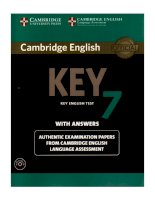 cambridge english key 7 english test with answers
