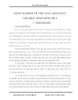 skkn KINH NGHIỆM về VIỆC dạy GIẢI TOÁN CHO học SINH GIỎI lớp 5