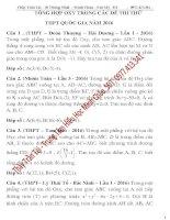 Tuyển chọn những bài toán hình học phẳng trong các đề thi thử