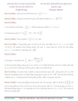 Tổng hợp đề thi thử THPT Quốc gia môn toán