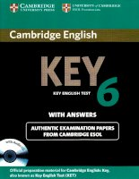 cambridge english key 6 students book with answers