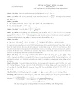 Tuyển tập đề thi toán TNTHPT các trường 2016