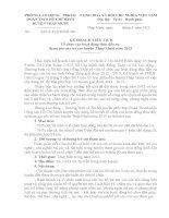 KẾ HOẠCH LIÊN TỊCH Tổ chức các hoạt động thúc đẩy sự tham gia của trẻ em huyện Tháp Mười năm 2013