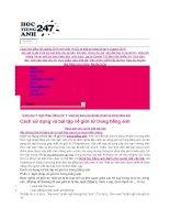Cách dùng ,các dạng và bài tập (có đáp án )