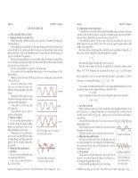 Lý thuyết và bài tập luyện thi sóng âm