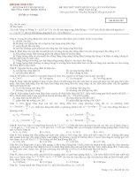 Đề thi thử THPT Quốc gia năm 2016 môn Vật lý trường THPT Triệu Sơn 2, Thanh Hóa (CÓ ĐÁP ÁN CHI TIẾT)