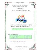 Sản phẩm dự thi KHKT dành cho học sinh THPT đạt giải Nhất cấp tỉnh