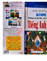 Ebook tuyển tập đề thi olympic tiếng anh lớp 10 (30 tháng 4 lần thứ XVIII   2012)  phần 1