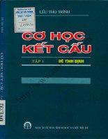 Cơ học kết cấu tập 1  hệ tĩnh định (NXB khoa học kỹ thuật 2000)   lều thọ trình, 194 trang