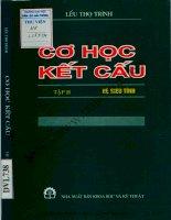 Cơ học kết cấu tập 2  hệ siêu tĩnh (NXB khoa học kỹ thuật 2000)   lều thọ trình, 266 trang