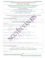 Tuyển tập phương trình, bất phương trình, hệ phương trình trong các đề thi thử THPT QUỐC GIA 2016 của các trường THPT trên cả nước