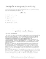 Hướng dẫn sử dụng vray for sketchup