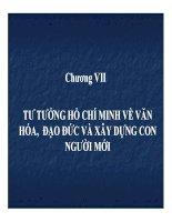 Bài giảng tư tưởng hồ chí minh   chương 7  tư tưởng hồ chí minh về văn hóa, đạo đức và xây dựng con người mới (34tr)