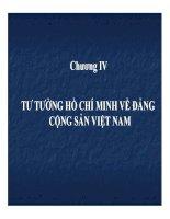 Bài giảng tư tưởng hồ chí minh   chương 4  tư tưởng hồ chí minh về đảng cộng sản việt nam (28tr)