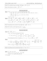 29 bài tập số phức có lời giải chi tiết