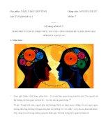 Sự khác biệt tâm lý giữa nam và nữ