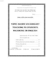 skkn tiếng anh thpt TOPIC BASED VOCABULARY TEACHING TO STUDENTS MAJORING IN ENGLISH