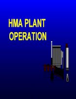 HMA PLANT OPERATION - Types Of Plants