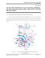Ch-ơng 5 Sự cần thiết phải đầu t- tuyến Cát Linh - Hà Đông Sự phù hợp quy hoạch phát triển GTVT Thủ đô đến năm 2020