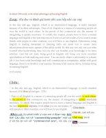 Tuyển tập bài luận Tiếng Anh hay nhất ôn thi THPT Quốc gia 2016 số 10