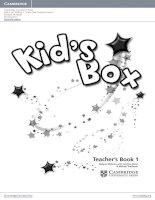 kids box 1  teachers books