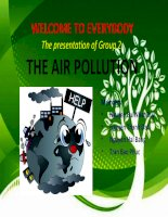 English presentation topic: the air pollution
