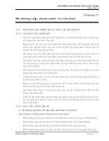 chương 17 hệ thống cấp, thoát nước và cứu hỏa
