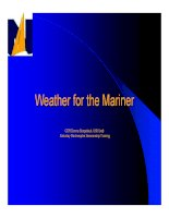 WEATHER FOR THE MARINER