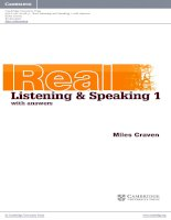 cambridge english skills real listening and speaking level1 beginner book w
