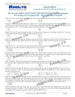 Các dạng bài tập về giảm phân luyện thi THPT Quốc Gia