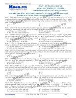 Các dạng bài tập về quy luật phân li của Menđen phần 2