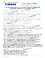 Các dạng bài tập về quy luật phân li của Menđen phần 1