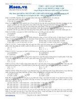 Các dạng bài tập về quy luật phân li độc lập của Menđen phần 2