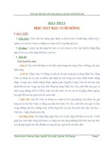 GIÁO án TÍCH hợp LIÊN môn âm NHẠC 8 bài TUỔI HỒNG