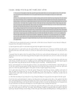 Câu hỏi và đáp án môn NNLCB của CN Mác Lênin. Chuyên đề Chủ Nghĩa Tư Bản độc quyền và Chủ Nghĩa Tư Bản độc quyền Nhà Nước