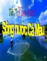 bài giảng tích hợp liên môn ngữ văn 6 bài  sông nước cà mau