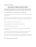 Sách giải bài tập toán 6 tập 1