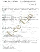 Đề thi thử THPT quốc gia trường NATIONAL HIGH SCHOOL EXAMINATION môn vật lý
