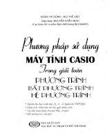 Phương pháp sử dụng máy tính casio trong giải toán PT  BPT HPT 01